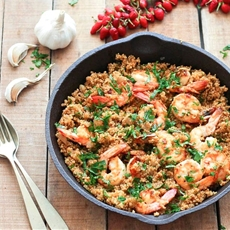 Garlic Shrimp and Quinoa • As Easy As Apple Pie