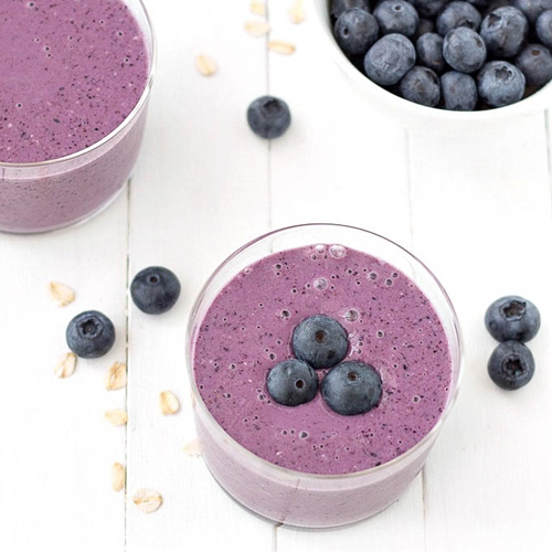 Oatmeal Blueberry Smoothie