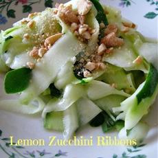 Lemon Zucchini Ribbons