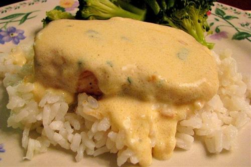 Pan Seared Chicken with a Gouda Cream Sauce
