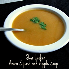 Slow Cooker Acorn Squash and Apple Soup