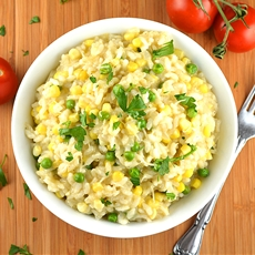 Vegan Sweet Summer Corn Risotto