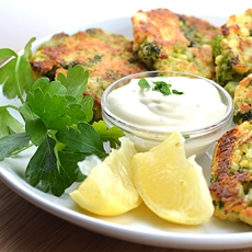 Roasted Broccoli Cakes