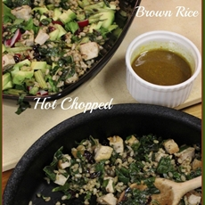 Curry, Chard, Chicken, Brown Rice Hot Chopped