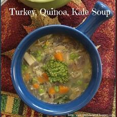 Turkey, Quinoa, Kale Soup