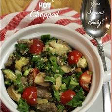 Steak, Kale, Cambozola, Zucchini, Quinoa Hot Chopped