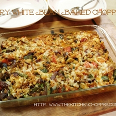 Curry White Bean Baked Chopped