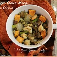 Pesto, Veggie, Shrimp, Quinoa, Mélange Chopped