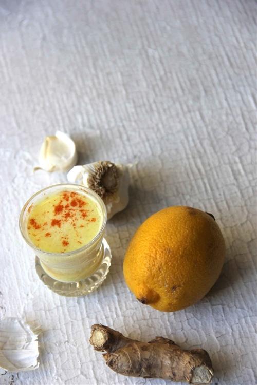 Garlic+Ginger+Lemon Elixer