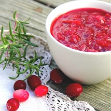 Lemon, Spice (and everything nice!) Cranberry Sauce