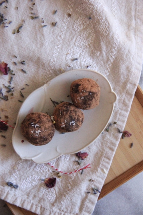 Lavender Sea Salt Truffles