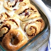 Orange Kissed Cinnamon Rolls with Cranberries and Pecans