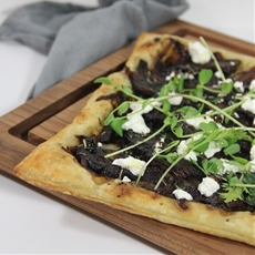 Marinated Portobello Puff Pastry with Caramelized Onions