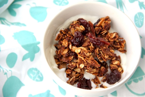 Chocolate Cherry Granola with Coconut & Flax