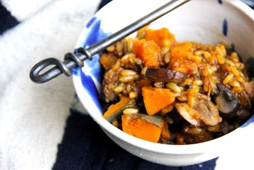Hearty Black Garlic and Kabocha Stew