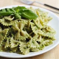 Cilantro Basil Pesto Pasta