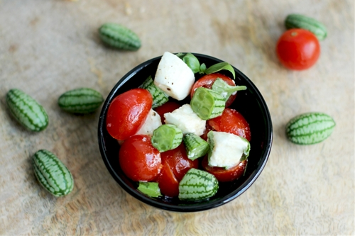 Caprese Salad With Micro Melons