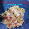 Rhubarb Crisp in the Slow Cooker