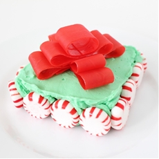 Christmas Brownies with a Bow