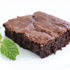 Mint Infused Deep Dish Brownies