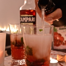 Campari Pomegranate Mint Spritzer