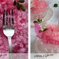 Rhubarb Rosewater Granita