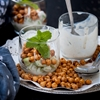 Savory Parfait with Cucumber, Mint and Crunchy Chickpeas