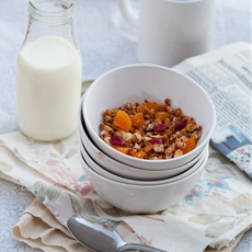 Maple Syrup Granola with Quinoa, Coconut, Seeds, Nuts and a Hint of Nu