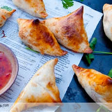 Sweet Potato and Cauliflower Baked Samosa