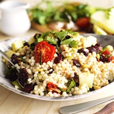 Israeli Couscous with Cranberries and Apples