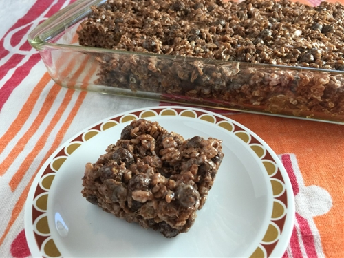 Triple Chocolate Rice Crispy Treats