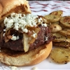 Pepper Jam Burger with Caramelized Onions, Gorgonzola