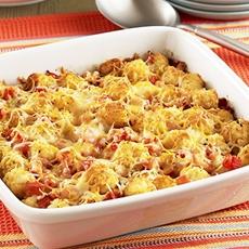 Cheesy Taco Potato Puff Casserole