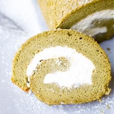 Matcha Swiss Roll With Lemon Mascarpone Whipped Cream Filling