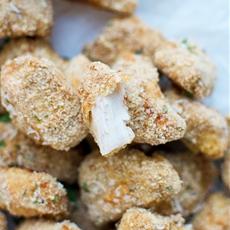 Crispy Baked Parmesan Flax Chicken Bites