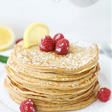 Lemon Curd Whole Wheat Pancakes