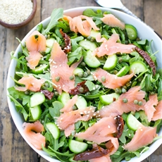 Arugula Smoked Salmon And Cucumber Salad