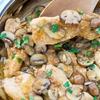 Mushroom Chicken With Brandy Sauce