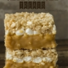 Caramel Stuffed Rice Krispie Treats