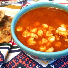 New Mexican Posole With Freshly Ground Chile Powder