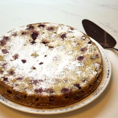 Gluten-free, Dairy-free Lemon Cherry Cake