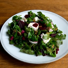 Lazy Pickled Beetroot & Goats Cheese Salad