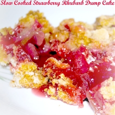 Slow Cooker Strawberry Rhubarb Dump Cake