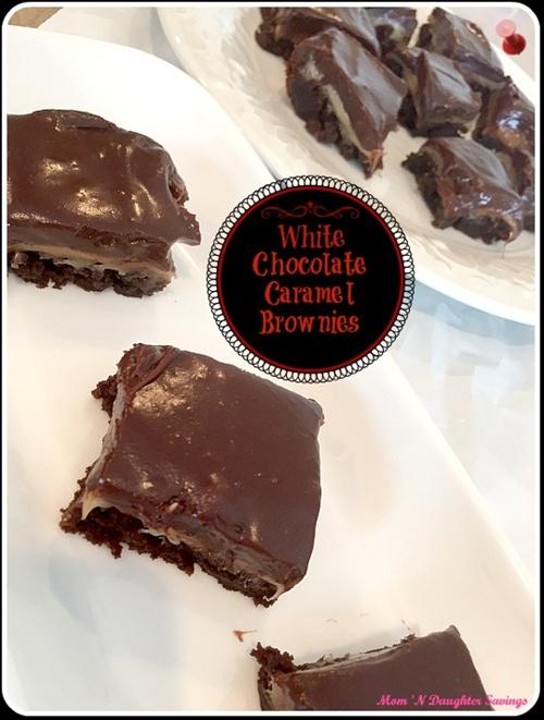 White Chocolate, Carmel Brownies