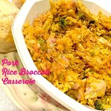 Healthy Pork Chop Rice and Broccoli