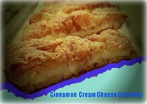 Cinnamon Cream Cheese Crescent Rolls