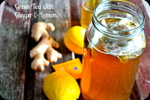 Green Tea with Lemon and Ginger for Weight Loss