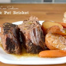 Tender, Low Sodium Crock Pot Brisket