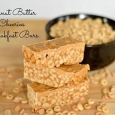 Peanut Butter Cheerios Breakfast Bars