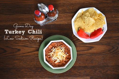 Low Sodium Turkey Chili